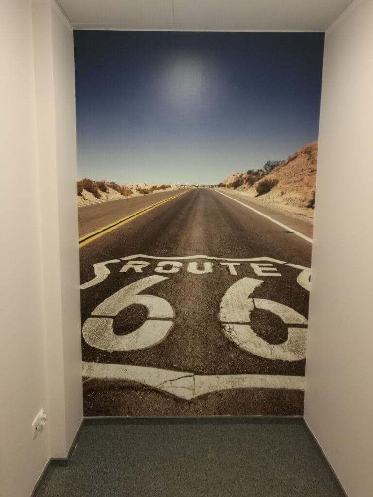 Fototapeta przedstawiająca drogę nr 66